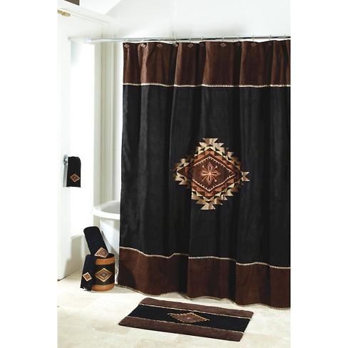 Mojave Shower Curtain Black