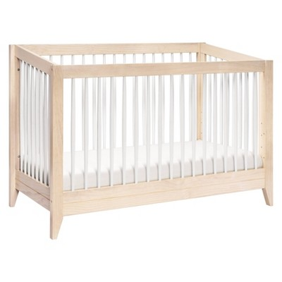 Babyletto Sprout 4-In-1 Convertible Crib With Toddler Bed Conversion Kit - Washed Natural / White