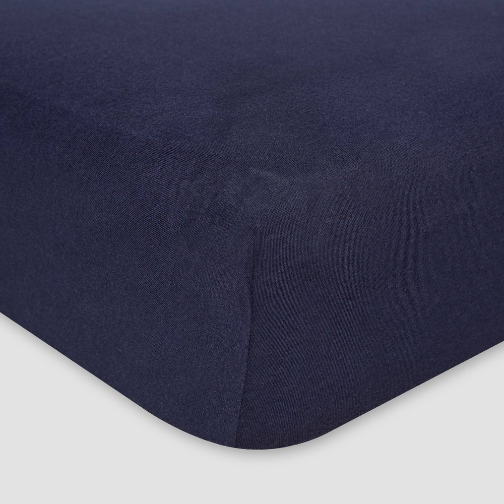 Burt S Bees Baby 174 Organic Jersey Fitted Crib Sheet Solid Blueberry