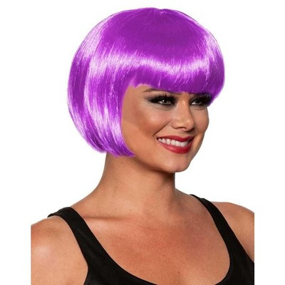 Underwraps Bob Cut One Size Adult Costume Wig | Lavender