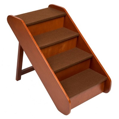 PetSafe Cozy-Up Folding Wood Pet Steps - Cherry