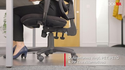 """30""""x48"""" Evolution Recyclable Chair Mat For Standard Pile Carpets Rectangular With Lip - EcoTex : Target"""