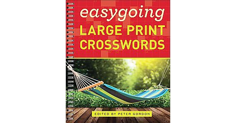 Easygoing Large Print Crosswords (Paperback) - image 1 of 1