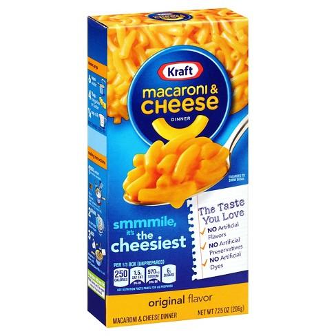 kraft macaroni cheese dinner original 7 25 oz target