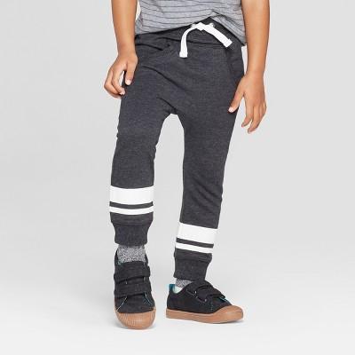Toddler Boys' Slouchy Kanga Front Pockets Jogger Pants - Cat & Jack™ Black 3T