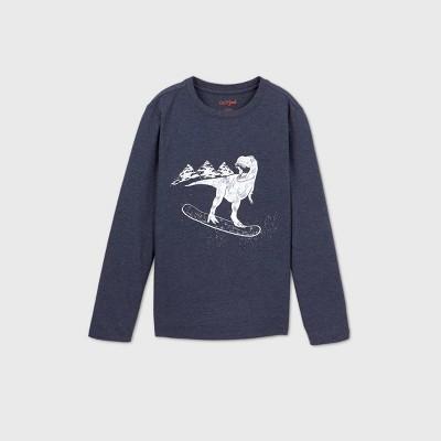 Boys' Dinosaur Graphic Long Sleeve T-Shirt - Cat & Jack™ Navy XXL