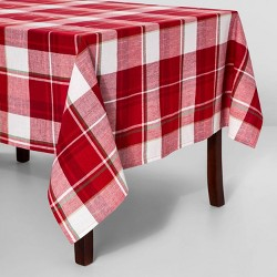 Holiday Plaid Rectangle Tablecloth - Threshold™