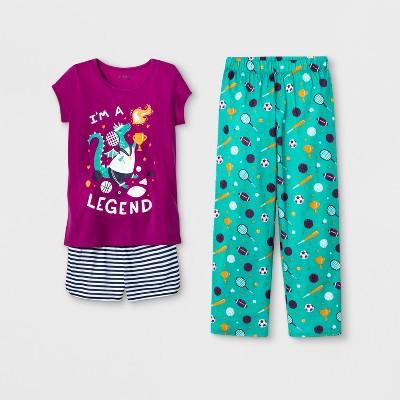 d99b5d1ddbc6 Girls  3pc Pajama Set - Cat   Jack™ Purple