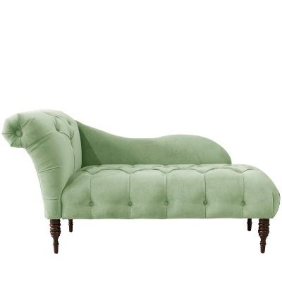 Chaise Lounge in Lulu Sage Green - Skyline Furniture