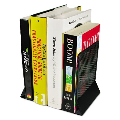 Artistic Urban Collection Punched Metal Bookends 6 1/2 x 6 1/2 x 5 1/2 Black ART20008