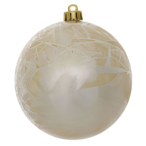 "Vickerman 6"" Champagne Crackle Ball Christmas Ornament, 4 per Bag - image 1 of 1"