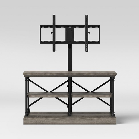 Conway Wood Tv Stand With Cast Iron Tv Mount Threshold