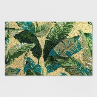 """18"""" x 30"""" Vacation Tropical Outdoor Doormat Green - Threshold™"""