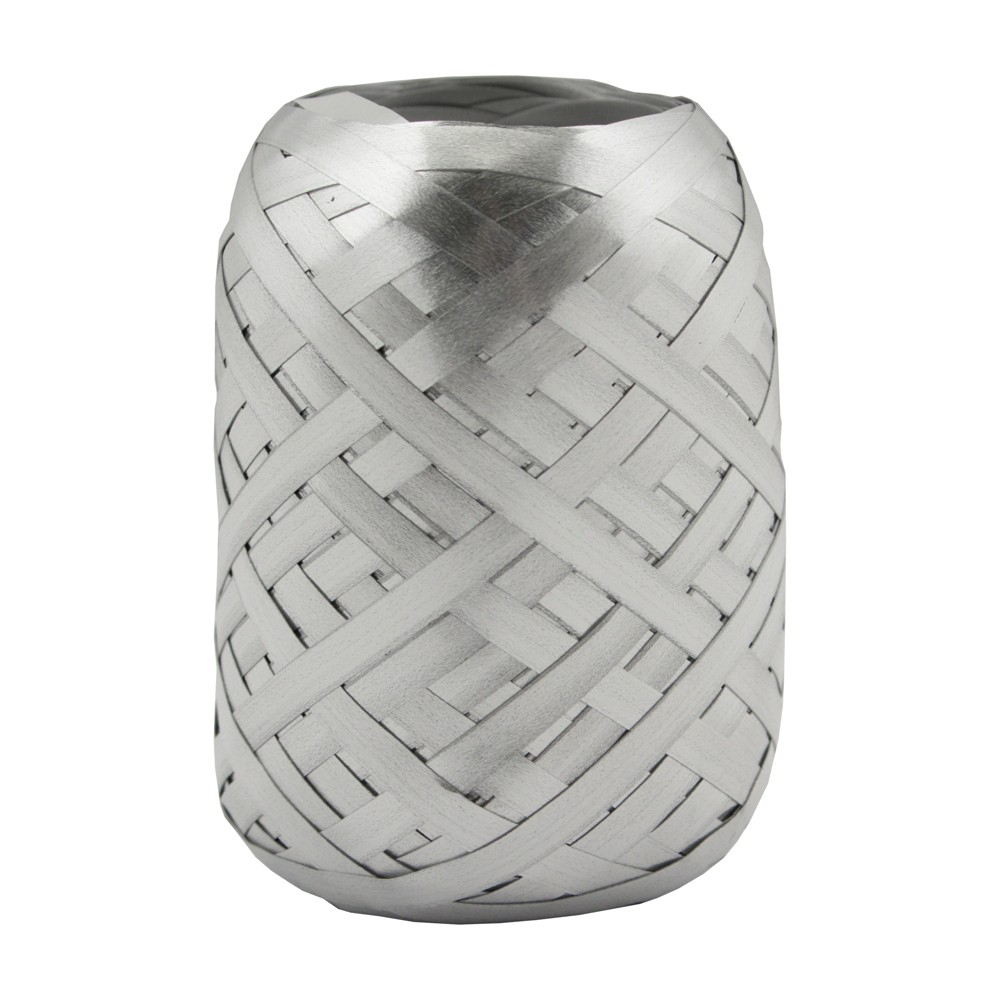 .19ft Silver Ribbon Curl 70ft - Wondershop