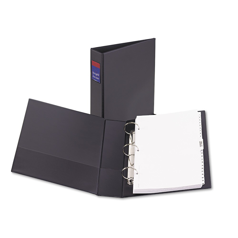 """Image of """"2"""""""" Legal Durable Non-View Ring Binder with Round Rings, 14"""""""" x 8.5"""""""" Black - Avery"""""""