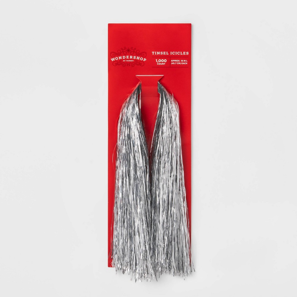 Image of 1000ct Icicle Ornaments Silver - Wondershop