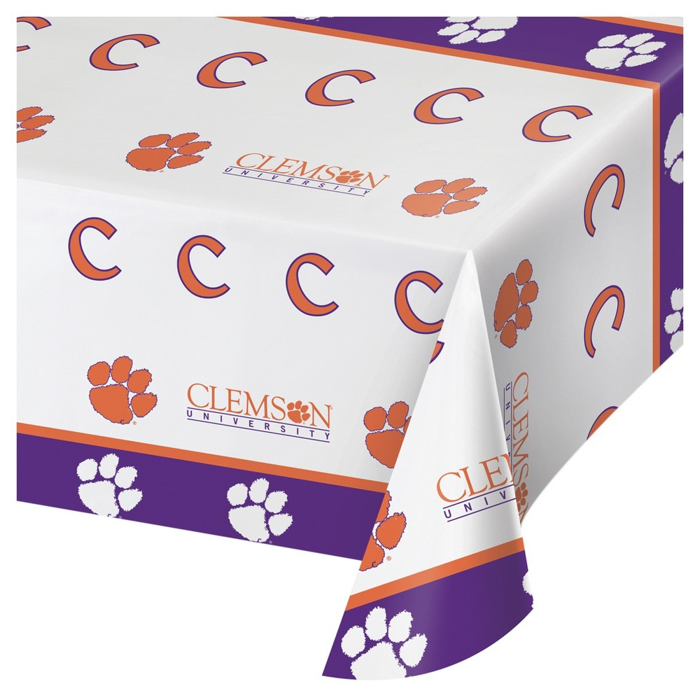 Image of Clemson Tigers University Plastic Tablecloth