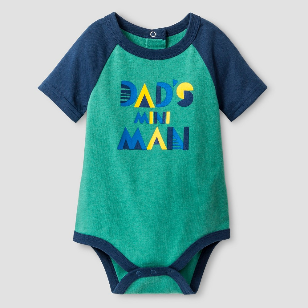 Baby Boys' Short Sleeve Mini Man Bodysuit - Cat & Jack Green 12M, Absolutely Green