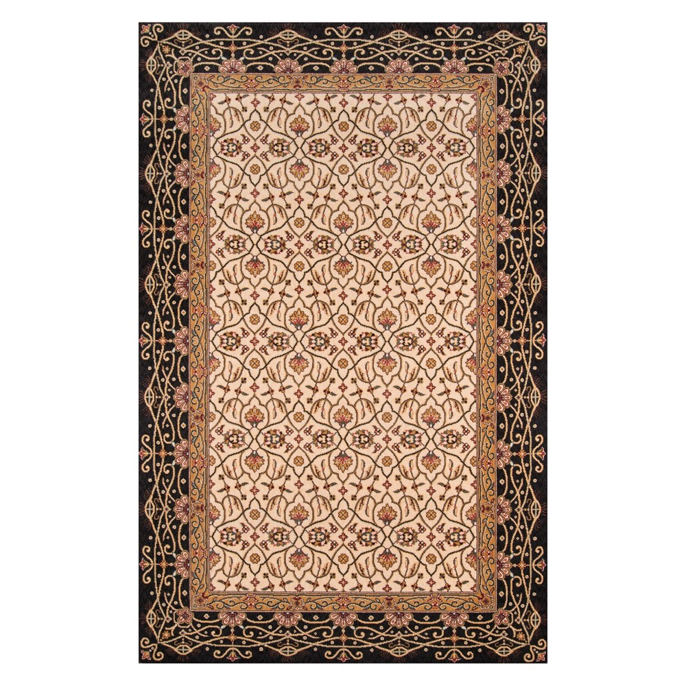 3'X5' Floral Loomed Accent Rug Charcoal - Momeni, Gray
