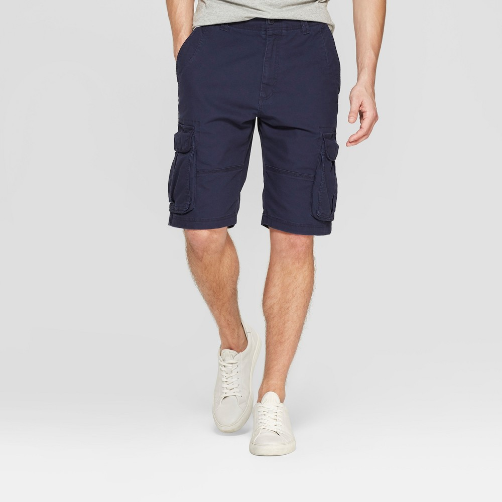 Men's 11 Cargo Shorts - Goodfellow & Co Xavier Navy 42