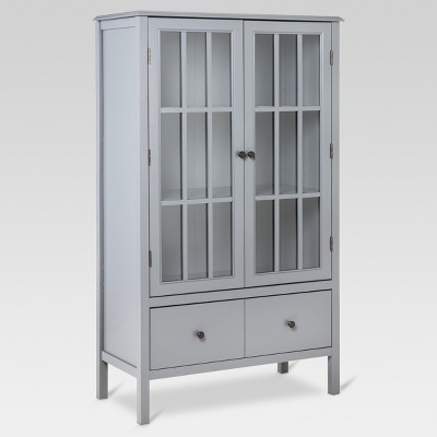 Windham Tall Storage Cabinet with Drawer Gray - Threshold™
