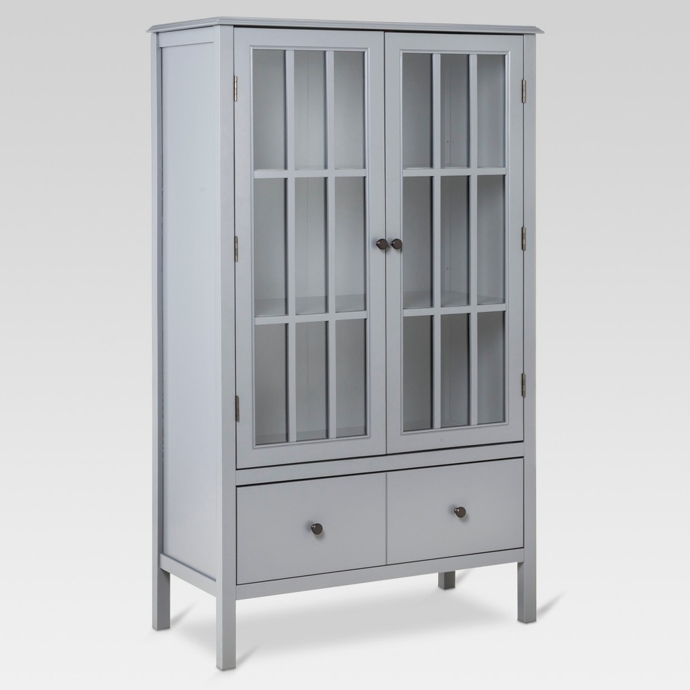 Windham Tall Storage Cabinet with Drawer Gray - Threshold Price