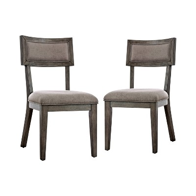 Set of 2 Rawlins Upholstered Dining Chairs Gray - HOMES: Inside + Out