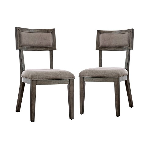 Set Of 2 Rawlins Upholstered Dining Chairs Gray Iohomes Target