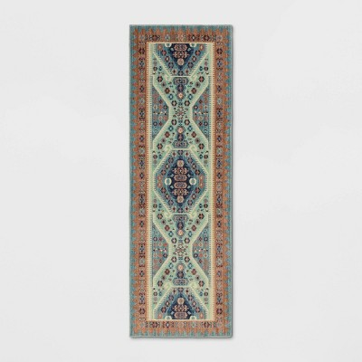 2'3 X7' Buttercup Diamond Vintage Persian Woven Runner Rug - Opalhouse™