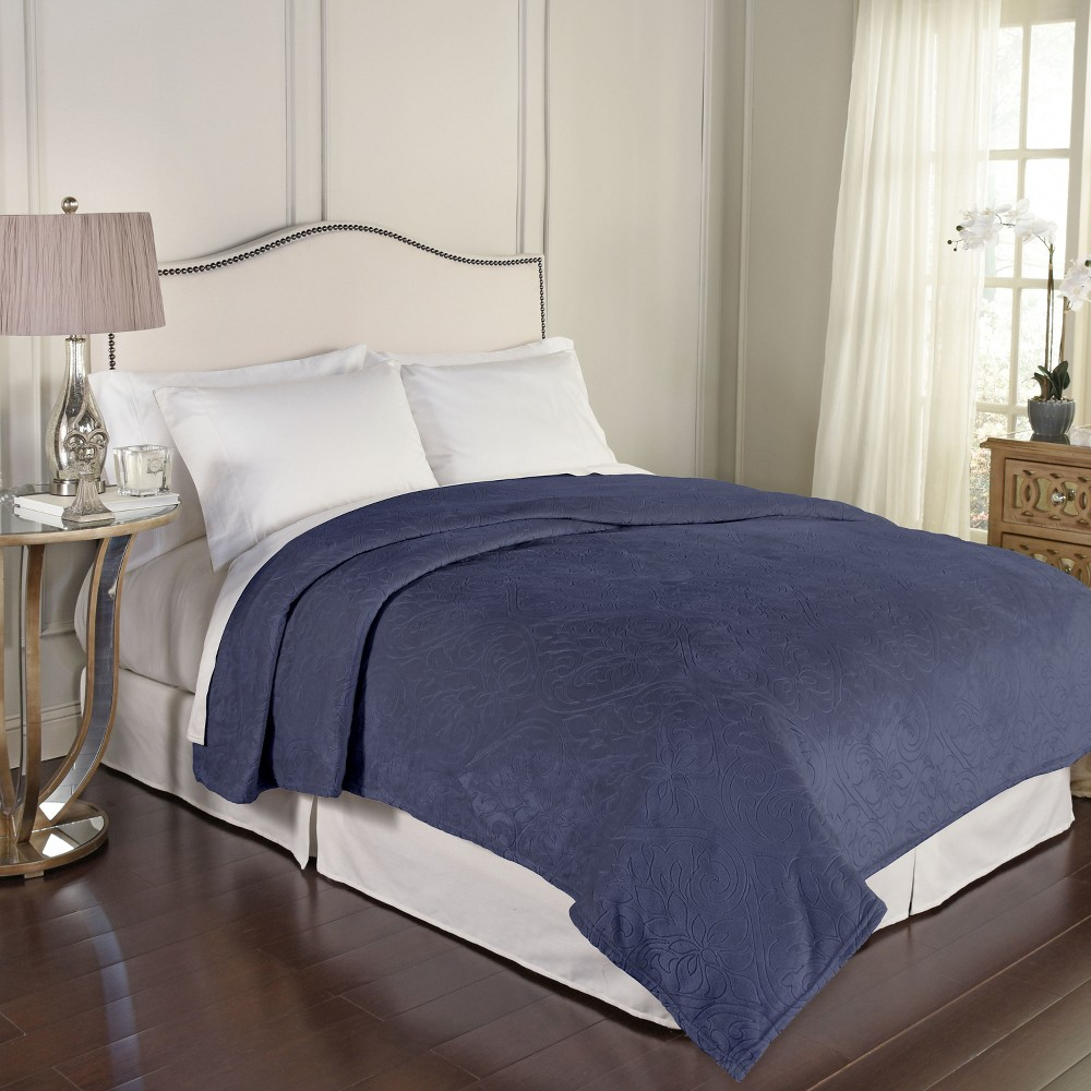 Bernadine Warming Blanket (Twin) Lapis Blue - Beautyrest