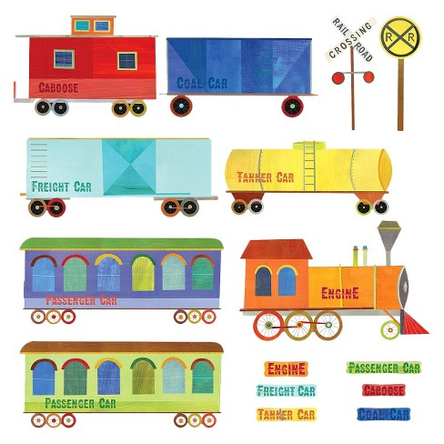 Wallies® Train Ride Wall Decal - image 1 of 1