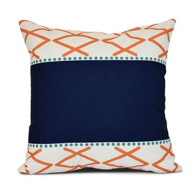 Orange Knot Fancy Print Pillow Throw Pillow (16 x16 )- E by Design