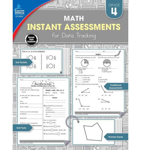 Instant Assessments for Data Tracking Math Grade 4 (Paperback) (Natalie Rompella) - image 1 of 1