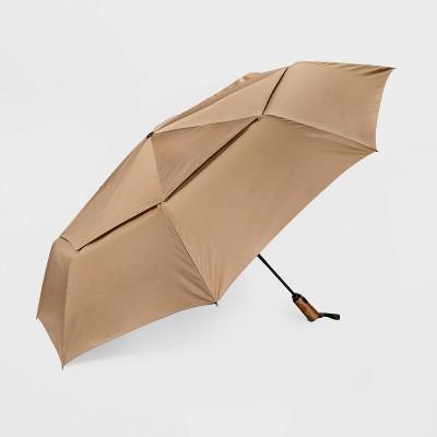 Women's Cirra By ShedRain Jumbo Auto Open Auto Close Compact Umbrella - Taupe Brown