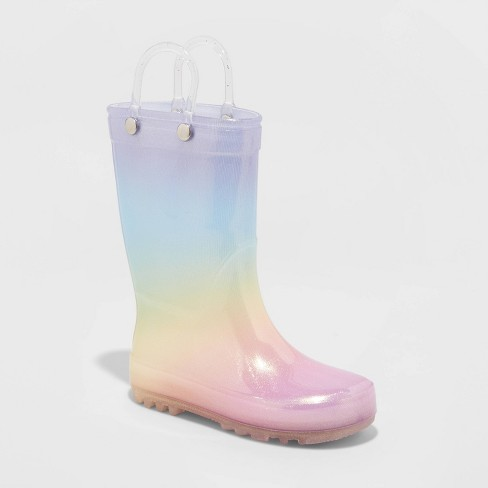 Toddler Girls' Guilia Ombre Rainbow Rain Boots - Cat & Jack™ - image 1 of 3