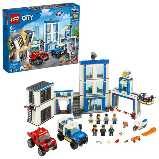 LEGO City Police Station 60246 Fun Building Set for Kids image number null