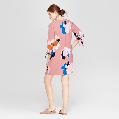 771636d5ef3b Women s Floral Print Long Sleeve Crepe Dress - A New Day™ Pink   Target