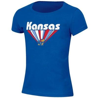NCAA Kansas Jayhawks Girls' Short Sleeve Scoop Neck T-Shirt