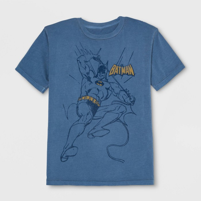 Junk Food Boys' Batman Outline Short Sleeve T-Shirt - Dark Blue - image 1 of 2