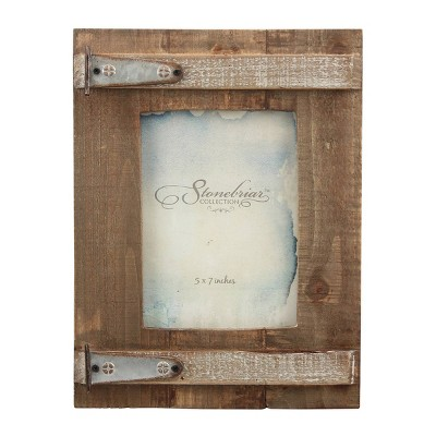"5"" x 7"" Wooden Barn Door Single Frame - Stonebriar Collection"
