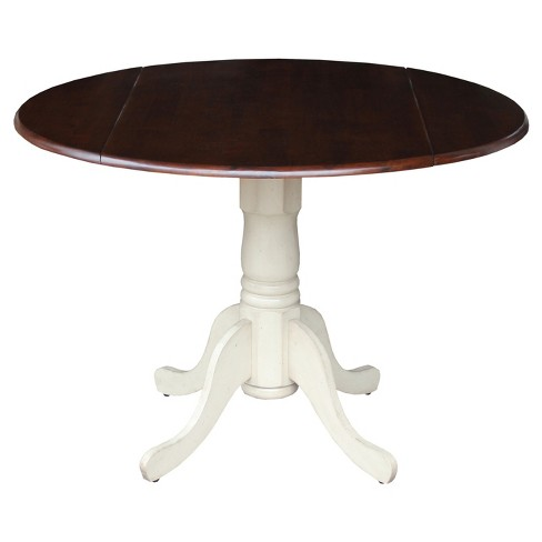 """Mason 42"""" Round Dual Drop Leaf Table - International Concepts - image 1 of 3"""