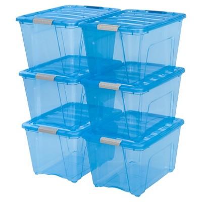 IRIS 6pk 54qt Modular Plastic Storage Bin