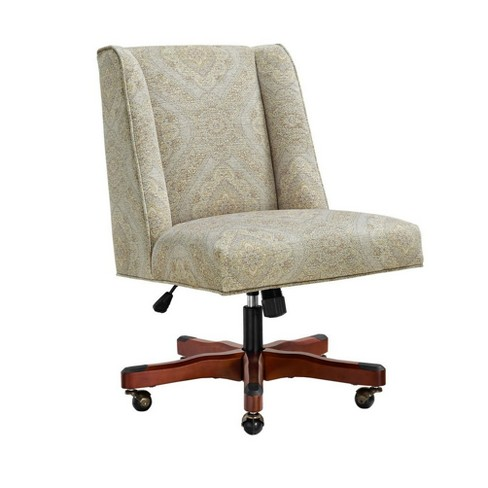 Wondrous Draper Neutral Paisley Office Chair Gray Linon Gmtry Best Dining Table And Chair Ideas Images Gmtryco