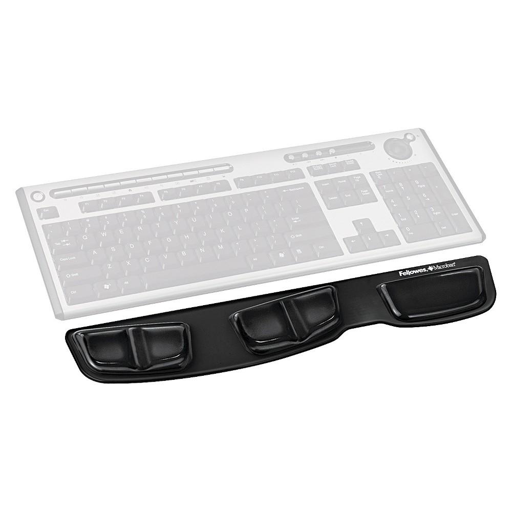 Fellowes Gel Keyboard Palm Support, Black