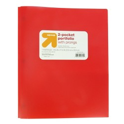 Plastic Folder with Prongs 2 Pocket - Up&Up™