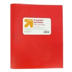 2 Pocket Plastic Folder with Prongs - Up&Up™
