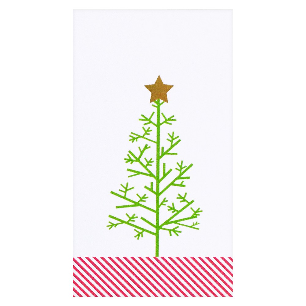 meant to be sent Minimal Christmas Tree Gift Tag, Multi-Colored