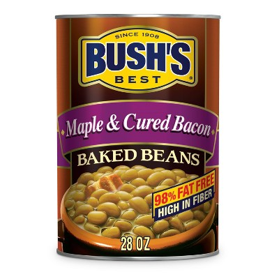 Bush's Maple Cured Bacon Baked Beans - 28oz
