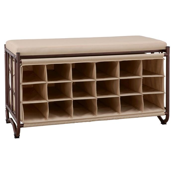 Neu Home 18-Slot Shoe Storage Bench - image 1 of 2