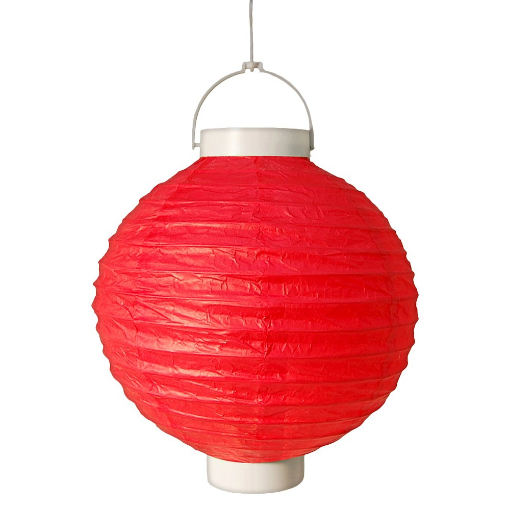 Image of 3ct Red Battery Operated Paper Lantern